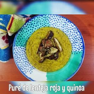 Puré quinoa y lentejas