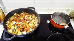 Aletria vegetariana proceso