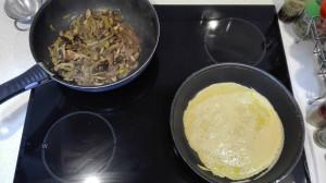 Crepes harina garbanzos elaboración