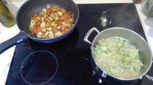 Quinoa con brócoli elaboración
