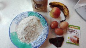 Bizcocho de avena y fruta 2